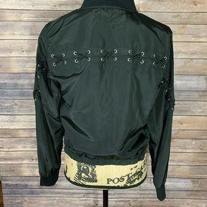 Lace Up Bomber Jacket